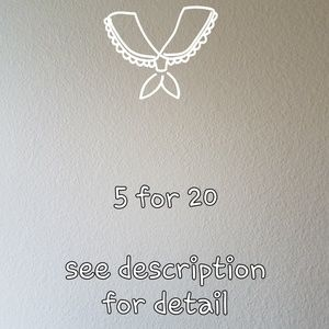 5 items for 20